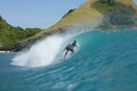 Getting slotted in Sumba.