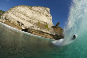 Getting deep in the barrel in Sumba